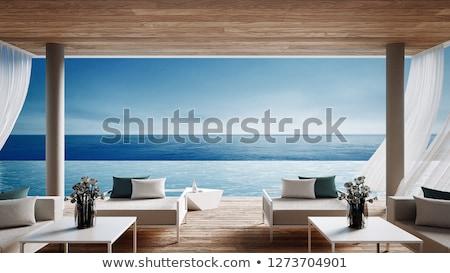 Foto stock: Villa · hermosa · plantas · ricos · cielo