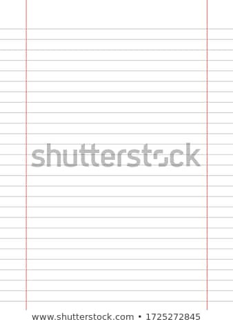 Lined sheet of notepad. EPS 10 Stock photo © beholdereye