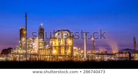 Zdjęcia stock: Noc · krajobraz · przemysłowy · stylizowany · bezszwowy · krajobraz · technologii