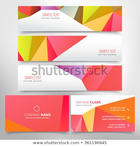 red poly business stationary set Stock photo © SArts