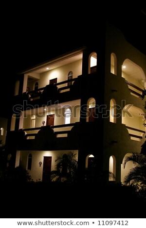 Estuco línea madrugada brillante luz Foto stock © ca2hill