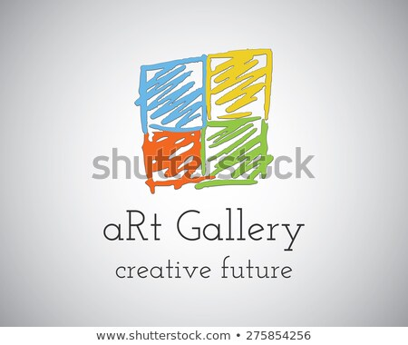 Abstract galleria d' arte logo design vettore modello Foto d'archivio © JeksonGraphics
