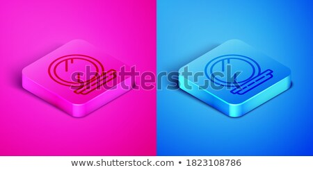 happy woman with blue compact mirror Stock photo © ssuaphoto