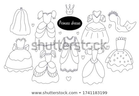 piękna · princess · wzrosła · ilustracja - zdjęcia stock © cosveta