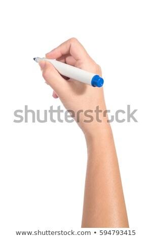 Feminino mão marcador caneta cópia espaço algoritmo Foto stock © stevanovicigor