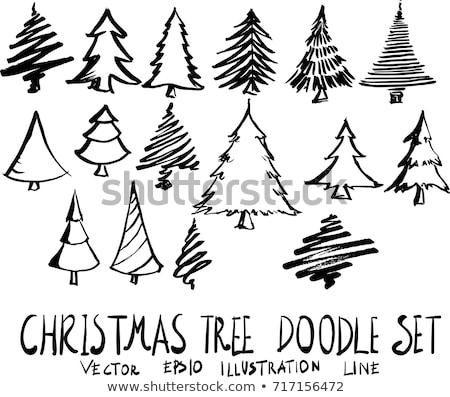 スケッチ · クリスマスツリー · 3dのレンダリング · 冬 · クリスマス · 休日 - ストックフォト © kjpargeter