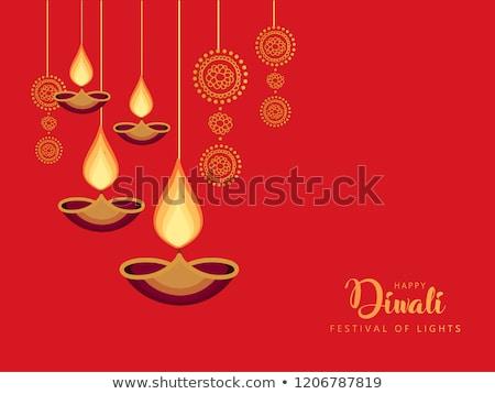 Photo stock: Indian · festival · heureux · diwali · carte · de · vœux · flyer