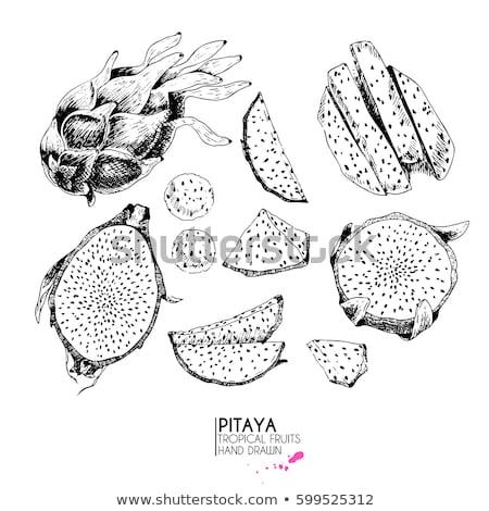 дракон фрукты экзотический изолированный белый фон Сток-фото © maia3000