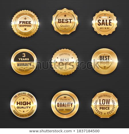 years best brand golden label badge label vector design stock photo © sarts