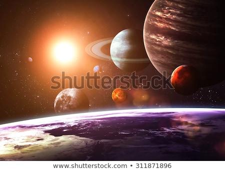 Sistema solar espaço objetos elementos imagem ilustração 3d Foto stock © tussik