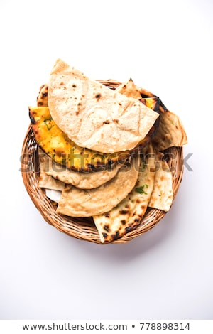 Plate of Plain Naan Breads Stock photo © monkey_business