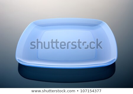 Rechthoekig Blauw plaat klein snack schone Stockfoto © Digifoodstock