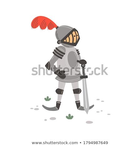 spel · object · ridder · staal · middeleeuwse · pantser - stockfoto © robuart