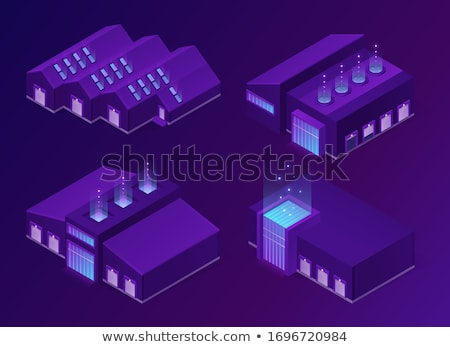 hangars vector icon in isometric projection stock photo © robuart
