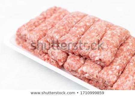 生 肉 ミートボール プレート 新鮮な 地上 ストックフォト © Digifoodstock