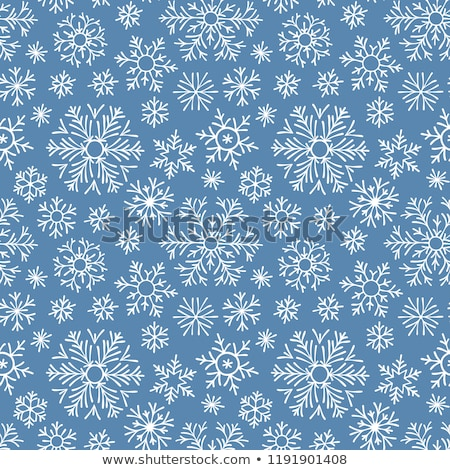 seamless pattern snowflakes endless background stock photo © robuart