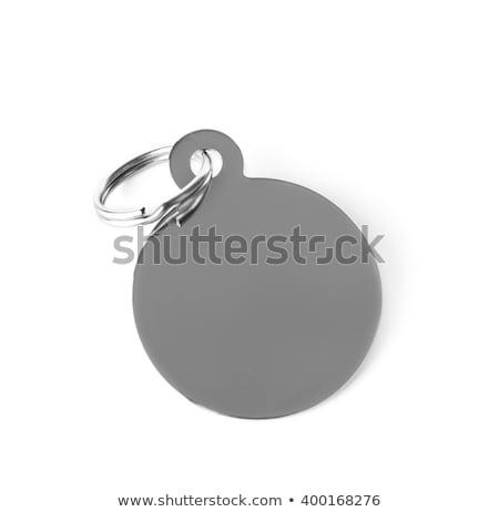 Argento tag fascino etichetta isolato bianco Foto d'archivio © kayros