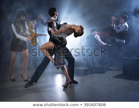 Saxofoon liefde verhaal romantische paar krijt Stockfoto © Fisher