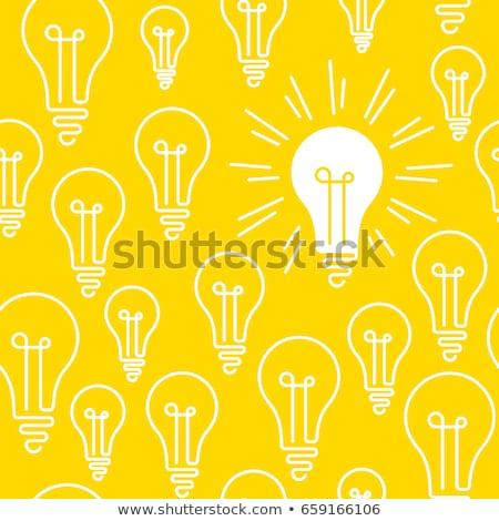 think positive idea light bulb pattern concept Stock photo © alexmillos