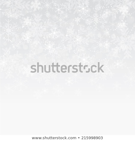 Stock photo: Vector Christmas background with white snowflakes and stars
