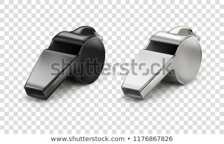 Metaal fluiten geïsoleerd sport Stockfoto © devon