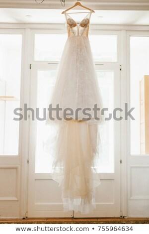 Wedding dress hanging on a tree Stock photo © tekso