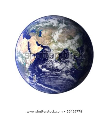 fű · Föld · Afrika · kék · óceánok · izolált - stock fotó © make