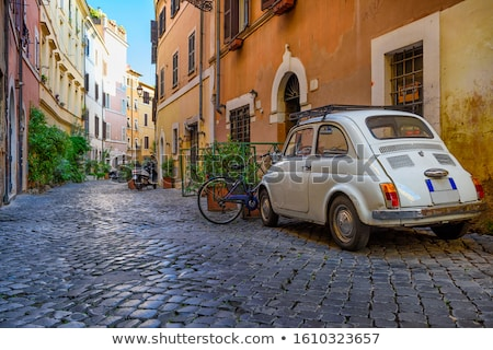 street in trastevere rome italy stock photo © neirfy