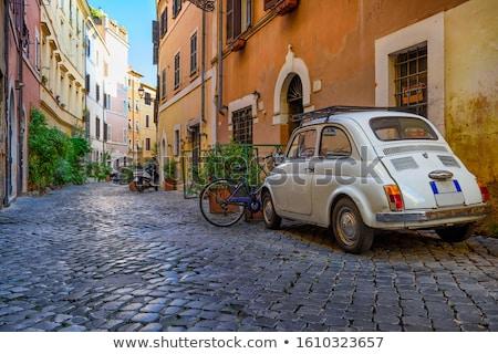 улице старый город итальянский оранжевый ресторан велосипедов Сток-фото © neirfy