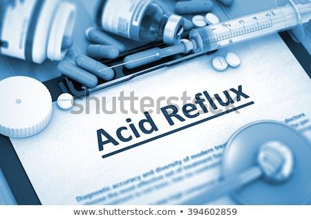 Diagnóstico ácido médico ilustração 3d impresso azul Foto stock © tashatuvango