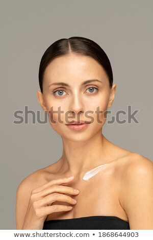 áll · nő · mellrák · tudatosság · szalag · fehér - stock fotó © wavebreak_media