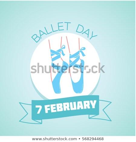 Ballet día calendario tarjeta de felicitación vacaciones icono Foto stock © Olena