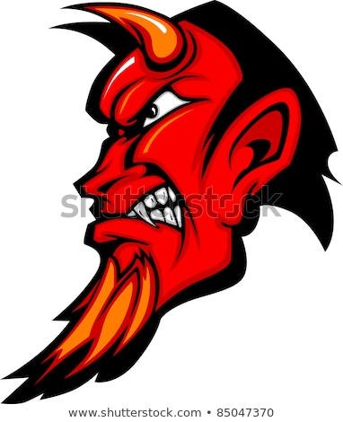 şeytan spor maskot yüz kötü Stok fotoğraf © Krisdog