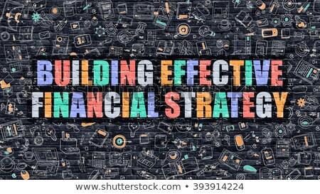 Gebouw effectief financiële strategie donkere Stockfoto © tashatuvango