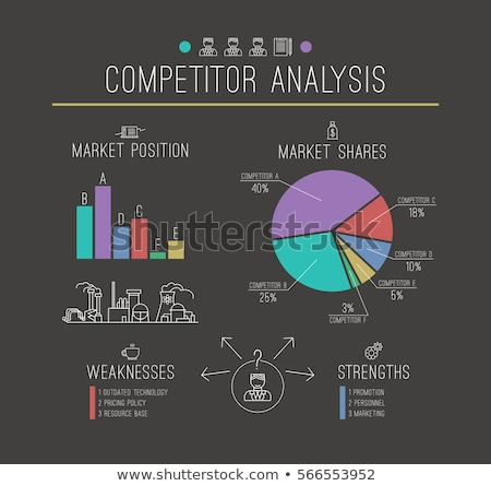 Competitor Analysis - Business Concept. Stock photo © tashatuvango