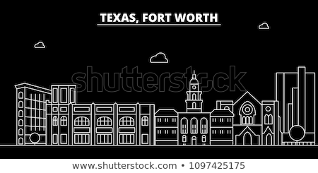Flat line Fort Worth banner Stock photo © Yuriy