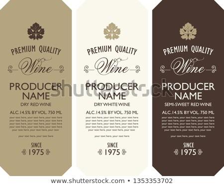 wijn · lijst · wijnstok · bladeren · druiven · restaurant - stockfoto © konstanttin
