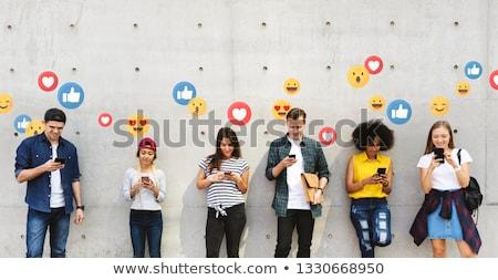 Führer · sozialen · Marketing · führend · Blogger · Werbung - stock foto © lightsource