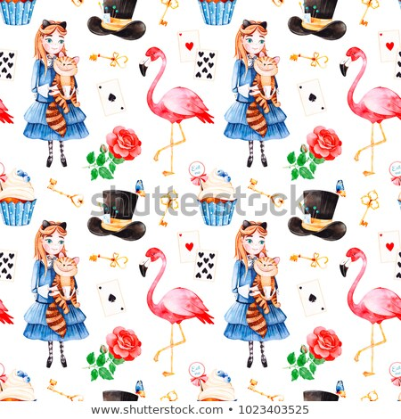 Young girl in blue dress daydreaming Stock photo © IS2