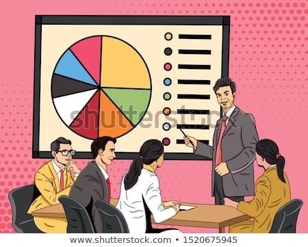 vijf · vergadering · presentatie · kamer · man - stockfoto © is2