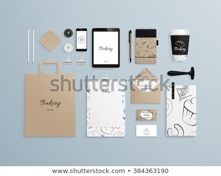 merk · doodle · ontwerp · iconen · opschrift · donkere - stockfoto © tashatuvango