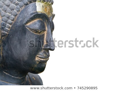 buddha face isolated on whie stock photo © jiaking1