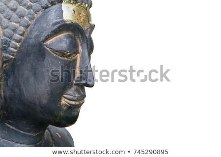 Buddha faccia isolato asian bianco statua Foto d'archivio © jiaking1