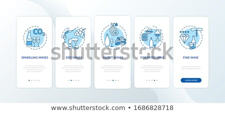 Winemaking Process Vector Illustration on Blue Stock photo © robuart