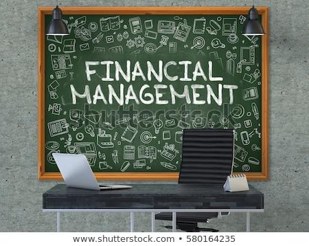 Pénzügyi tőke kézzel rajzolt zöld tábla modern Stock fotó © tashatuvango