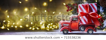 vintage toy truck and christmas gifts stock photo © stephaniefrey