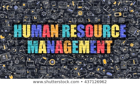 Human Resource Management Concept. Multicolor on Dark Brickwall. Stock photo © tashatuvango
