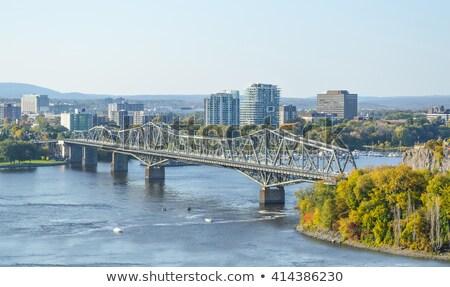 Brug Ottawa panorama ontario Canada stad Stockfoto © benkrut