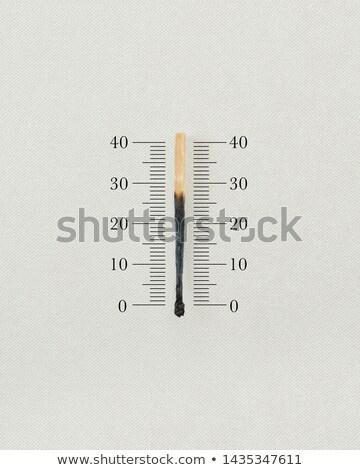 match thermometer Stock photo © psychoshadow