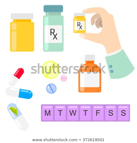 Plastic Weekly Pill Box Stock photo © AndreyPopov